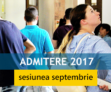 Admitere septembrie 2017